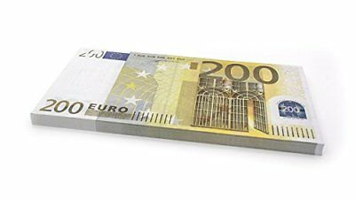 75 x €200 EURO Cashbricks® play money notes - size: 125%