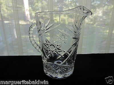 Anchor Hocking Glass Clear Early American Prescut 54 ounce Pitcher