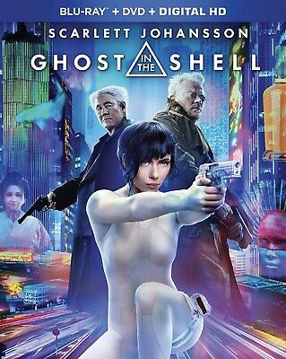 Ghost In The Shell (Blu-Ray+ Dvd+ Digital Hd) New Factory Sealed