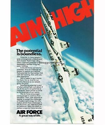1982 US Air Force Recruitment Recruiting  Northrop F-5 Jet Fighter Vtg Print Ad