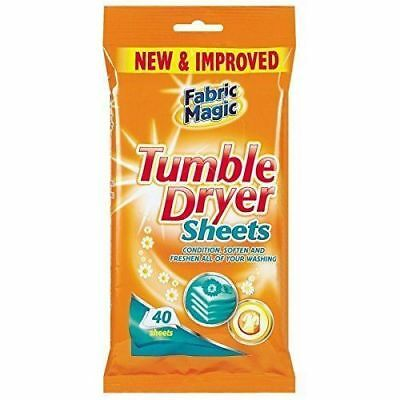 Tumble Dryer Sheets Wipes For Soften and Freshen Washing 40Pk