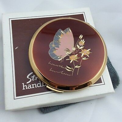 Mint 1980s vintage Stratton convertible powder compact box pouch sifter