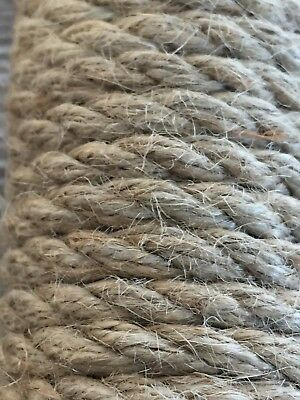 Thick Jute Rope Natural 4mm Twine Cord Braided Sash Decking Garden