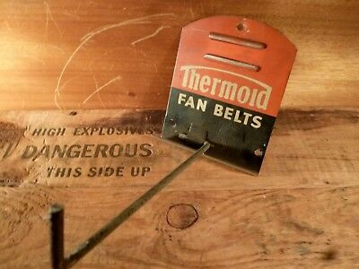 "Vintage THERMOID ""Fan Belts"" Gas/Service Station Metal Sign Display"