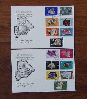 Botswana 1974 Botswana Minerals set on First Day Cover