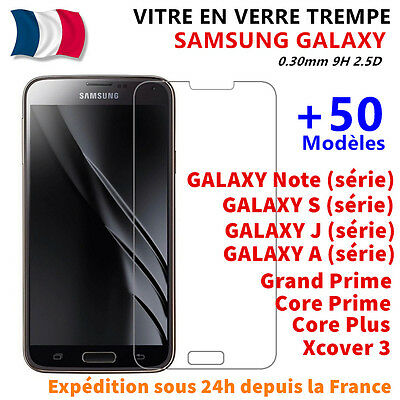 Vitre Film Protection Verre Trempé Samsung Galaxy S5/S6/A3/A5/A6+ J3/J5/J6 Plus