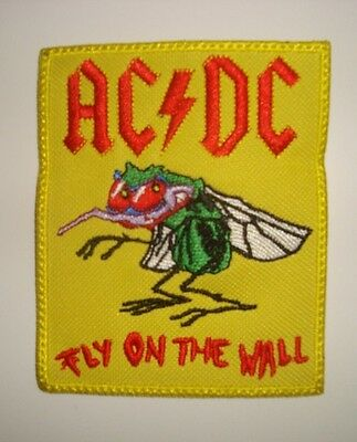 AC DC - FLY ON THE WALL - LOGO Embroidered PATCH ac/dc acdc 2