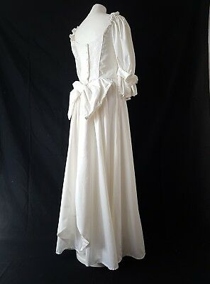 Vintage Laura Ashley Wedding Dress Ivory Cotton On Back Ruffle Victorian 12 280 00 Picclick Uk