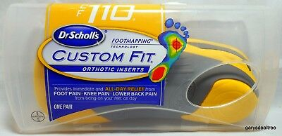 Dr Scholl's Custom Fit CF #330 Orthotic Inserts Foot Mapping ... on