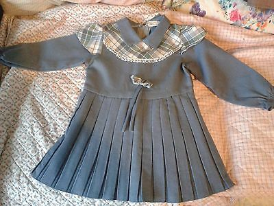 2 retro vintage 1980's Child's Pink & Blue  Check dress age 2-3 Years? Size 20