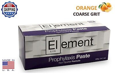 Element Prophy Paste Cups Orange Coarse 200/box Dental W/flouride - 2 Boxes