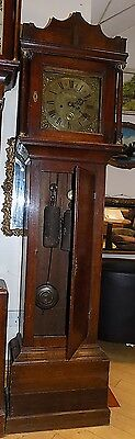 19th Century oak two train longcase cottage clock Thomas Woolley,Charing