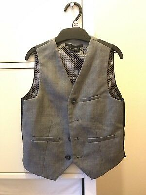 Boys Next Grey Waistcoast Age 6 Suit Formal Wedding