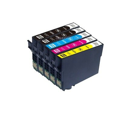 5Pack Non-Oem Ink Epson T220Xl 220Xl Expression Home Xp-320 Xp-420 Xp-424 T220