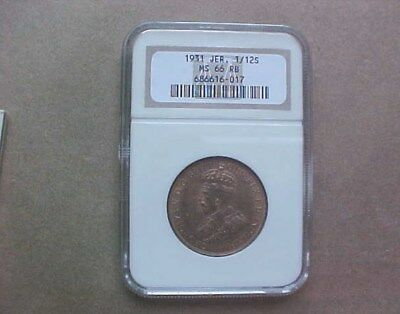 1931 Jersey 1/12S Old Ngc Ms66 Slab - Red And Brown  - Coins