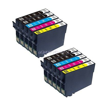 10 Pk Non-Oem Ink Epson T220Xl 220Xl Expression Home Xp-320 Xp-420 Xp-424 T220
