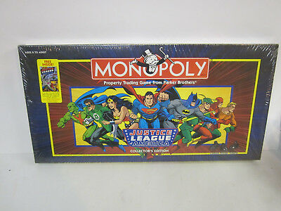 Monopoly Justice League America Collectors Ed. board game 1999 with Comic book