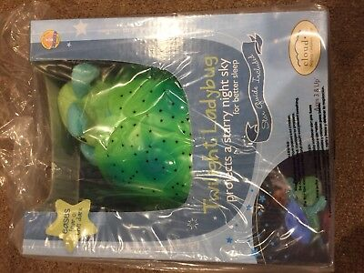 NEW Cloud B Twilight Green Ladybug Night Light. FREE SHIPPING!