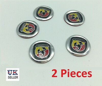 2x Fiat Replacement Key Fob Logo Sticker Badge for ABARTH 500 PUNTO 14mm /-m10-/