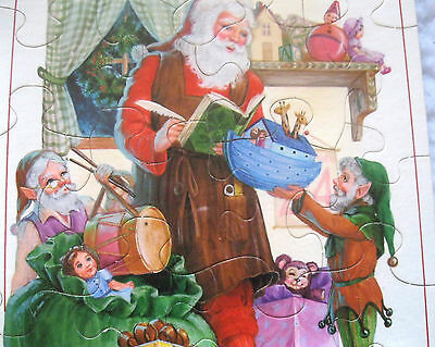Hallmark Holiday Puzzle Greeting Card Santa Checking the List Vintage Sealed