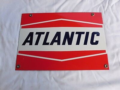 Vintage New Old Stock Atlantic Gasoline Porcelain Sign