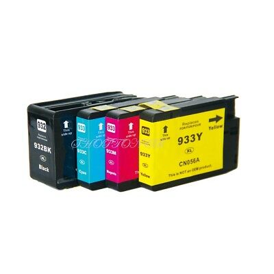 4PK 932XL 933XL Ink Cartridge for HP Officejet 6100 6600 6700 7110 7610 NON-OEM