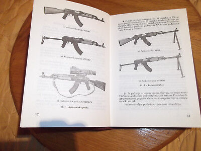 Yugoslavia JNA army manual Ex Yugo 7.62 manual RARE OLD NOS