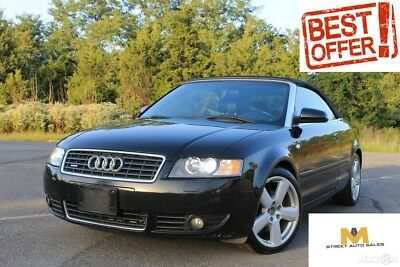 2006 Audi A4 S Line 3.0 | 2 Owner CarFax Valued @ $8,160.00 Audi A4 3.0 S-Line 3.0 All-wheel Drive Quattro Cabriolet Convertible| Xenon!