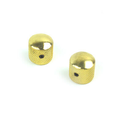 2 Dome Guitar Knobs For Tele or JB style ,Adjustable for 6mm Shaft ,Gold Plated