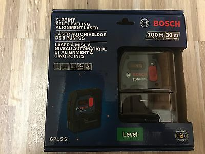 Bosch GPL 5 S 5-Point Self-Leveling Alignment Laser Level
