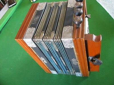 Lovely Vintage Campball's Melodeon With Steel Bronze Reeds.nice Sound