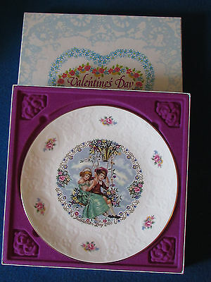 Royal Doulton Collectable Plate - Valentines Day - 1980 - In Original Box