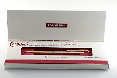 Vintage Le Bijou By Grand Prix Compact Ball Point Pen New Old Stock In Box Usa