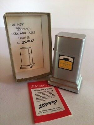 Vintage Zippo Barcroft Table Lighter