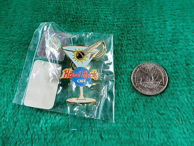 Hard Rock Cafe Martini Glass with Microphone Pin