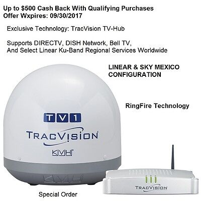 KVH TracVision TV1 - Linear & Sky Mexico Configuration:  Performance and HDTV