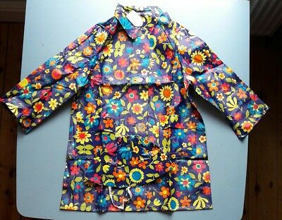 Vintage Childs PVC vinyl  Floatilla raincoat and hat new deadstock size 26