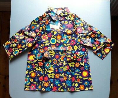 Vintage Childs PVC vinyl  Floatilla raincoat  new deadstock size 24