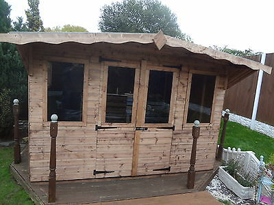 10ft x 8ft ( 3m x2.4m) WOODEN WENDY HOUSE / VERANDA ANY SIZE MADE NO VAT ADDED