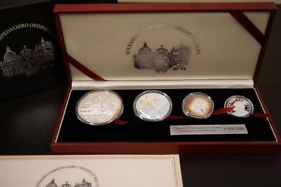 Collectible Set Of Four Silver Pope John Paul Ii Coins,2004  Knights Of Malta