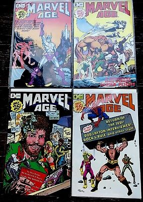 Marvel Age Comic Magazine Large Lot of 15 from 1983 & 1984