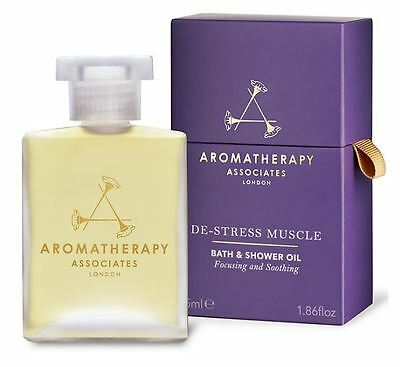 Aromatherapy Associates De-Stress Muscle Bath & Shower Oil 55ml *New & Sealed*