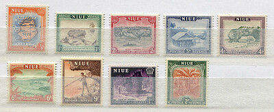 Niue Set of 9 mint MNH definitive stamps issued 1950 - FREE UK POSTAGE
