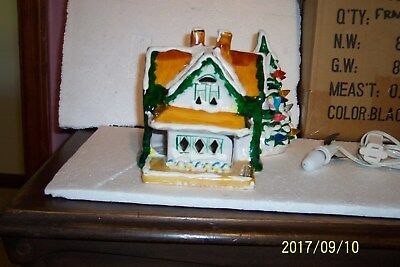 GABLED COTTAGE_ 50021_ Dept. 56 __ Snow Village , With  light & cord, very clean