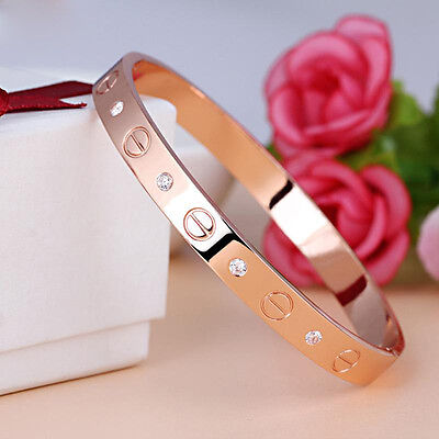 Love Bangle Cartier Inspired - Silver/Rose Gold/18k GoldPlated