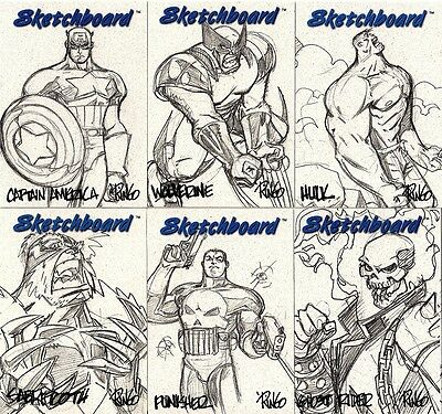 1998 Marvel Creators Collection MCC98 SKETCHBOARD SET (23) - WHITE