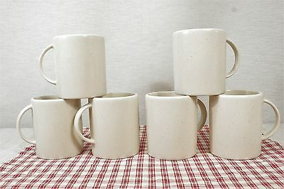 LOT of 6 Calvin Klein Khaki Collection Cargo Cream Coffee Mugs MINT!
