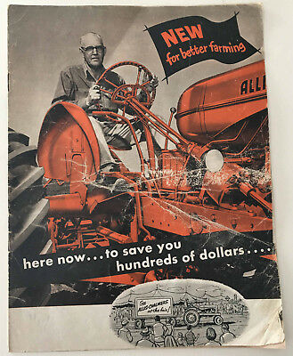 Vintage Allis-Chalmers New For Better Farming Tractor Catalog Booklet