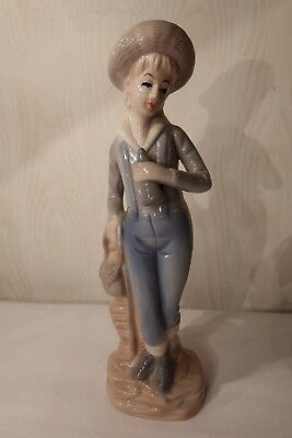 Lladro type FINEST PORCELAIN from Valencia man boy figure ornament