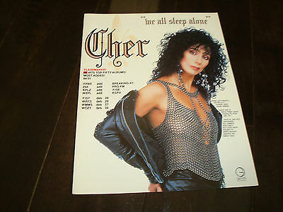 """CHER ad for hit """"We All Sleep Alone"""" formerly of Sonny and Cher"""